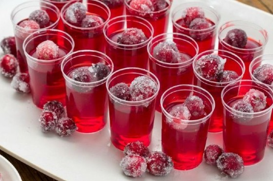 Cranberry Jell-O Shots